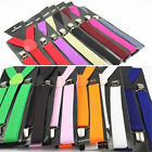 Fashion Unisex Accessory Multicolour Clip-on Elastic Braces Y-back Suspenders