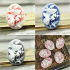 23.5X17mm 5Pcs Cameo Resin Cabochon Flatback Butterfly Flower 3 colors to choose