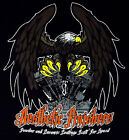 Aesthetic Finishers Fire It up Motorcycle Biker Eagle T-Shirt