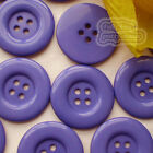 Purple 4 Holes Plastic Buttons Sewing Cardmaking Scrapbooking 17mm,27mm,33mm
