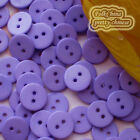 14mm Purple Flat Round Buttons Sewing Scrapbooking Cardmaking Craft