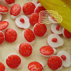 Red Ladybird 13mm Plastic Buttons Sewing Scrapbooking Collectable Craft