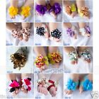 Super Cute Baby Infant Girls Barefoot Flower Sock Sandals Shoes Toe Blooms 6M-2Y