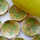 Green Bine 30mm Wood Buttons Sewing Scarpbooking Craft B003