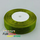 Olive Organza Ribbons 50Yds/Roll Sew 10mm,12mm,15mm,18mm,24mm,38mm,50mm #98