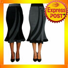 RK36 Fitted Flared Work Pencil Skirt Rockabilly Pin Up 50s 60s Retro Mod Tattoo
