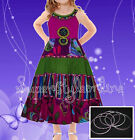 GIRLS Beaded DRESS PARTY DOMINO GIRL AGE 2-10 YEARS * WITH FREE BANGLES * NEW