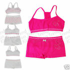 GIRLS CROP VEST TOP HIPSTERS SET KIDS Briefs First Bra SEAMLESS PRIMARK NEW