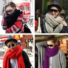 Knit Wool Pashmina Soft Warm Hood Cowl Warmer Winter Neck Shawl Long Scarf J
