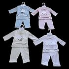 CUTE NEW BEBE BONITO 3 PC BABY BOYS GIRLS TROUSER TOP BIB OUTFIT NB 0/3 3/6 MTHS