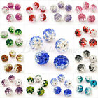 5x Shamballa Clay Crystal Rhinestone Pave Round Disco 10mm Ball Beads 12 Colours