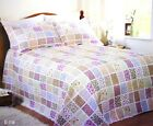 Patchwork Floral Quilted Bedspread Ella Single Double King Pillow Cases