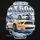 Ford Shelby Cobra GT 500 Yellow White Mustang T-Shirt Black Car Auto BABA