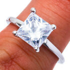 1.50CT Square Princess Cut Solitaire Russian CZ .925 Sterling Silver Size 4-10 $14.99 USD on eBay