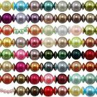 75 Round Pearls Beads 6mm Glass Faux Imitation Women Jewellery Making Crafting