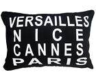 "Ehs-VERSAILLES NICE CANNES PARIS designer Cushion Cover/Pillow Case 13""x19"""