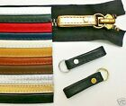 Two Leather Zipper Pull Loops W/Split Rings For Bag/Briefcase/Pouch/Jacket/Boots