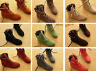 hot Women Girls Fashion Style Lace Up Winter Boots Flat Ankle shoes 9 colors