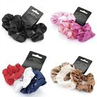 Set of 3 Satin Feel Hair Scrunchies Bobbles Hair Bands Elastics - Accessories
