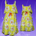 GIRLS NEXT DRESS Yellow Daisy  SUMMER Cotton DRESS KIDS Age 3-7 Y Ex Store NEW