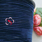 "3mm 1/8"" Midnight Velvet Ribbons Craft Sewing Trimming Scrapbooking #180"