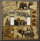 Light Switch Plate Cover - Rustic Bear And Moose - Cabin Home Decor - Lodge