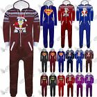Kids Boys Girls Superman Batman Playsuit All In One Piece Onesie Jumpsuit Size