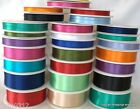 Double Faced Satin Ribbon Full Reel *Choose Colour & Width *Finest Quality*