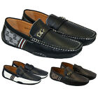 NEW MENS LEATHER LOOK DESIGNER ITALIAN LOAFERS CASUAL MOCCASIN DRIVING SHOES