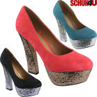 LADIES HIGH HEELS COURT SHOES NEW WOMENS OFFICE SMART HEEL PARTY PLATFORM SHOES