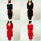 Hot Sale Fashion Women Lady Lapel Slim Collar Bodycon Mini Dress Skirt Long