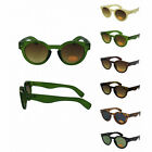 Small round/circle retro-vintage Thick frame Keyhole sunglasses. Spring hinges