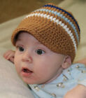Handmade Crochet Baby Boy Newsboy Visor Hat *You Choose Size*
