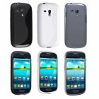 CLEAR Crystal Hard / BLACK / WHITE TPU GEL CASE for Samsung Galaxy S3 III mini i8190