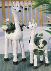 White Wicker Giraffe Planters #ZEG03/04