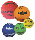 Safari Medicine Balls - 1,2,3,4,5KG Weighted Ball Exercise/Fitness Strength