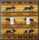 Light Switch Plate Cover - Rustic Moose - Cabin Home Decor - Lodge