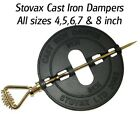 Stovax Replacement Cast Iron Stove Woodburner Logburner Flue Damper 4,5,6,7,8""