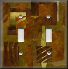 Light Switch Plate Cover -Abstract Art - Wild Safari Brown - African Home Decor