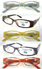 (R332)Flower Design Plastic Reading Glasses/Flexi Hinge/Asperic Lenses/5 Colours