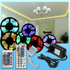 3528 5M 10M RGB LED Streifen Strip Lichterkette 24 44 Key Fernbedienung Trafo