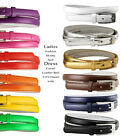 "Women Solid Color Skinny Dress Belt, 3/4"" Wide  *Multiple Colors!*"