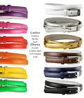 "Women Solid Color Skinny Dress Belt, 3/4"" Wide  Multiple Colors  SHIPS FROM US"