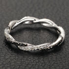 Full Eternity Band French Micro Pave .48ct Diamonds 14K White Gold Wedding Ring