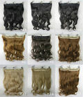 Choose 24inch wavy hair extension clip-on hot heat resistant wire fiber cap pure