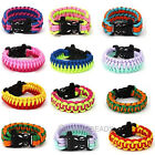 2pcs Paracord Cord Outdoor Sports Survival Bracelet FOR Camping Hiking Wristband