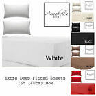 """Annabelle Home Percale Extra Deep Fitted Sheet, Non iron, 180 TC,  16""""(40cm) Box"""