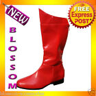 S22 Mens Superhero Hero RED Adult Boots Shoes