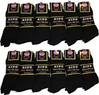 4 8 12 Pairs Men #1416Z Black Premium COTTON Ribbed Dress Sock 10-13 #LOT