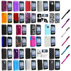 Color Hard Snap-On Rubberized Skin Case Cover Accessory For iPhone 3G S 3GS+Pen